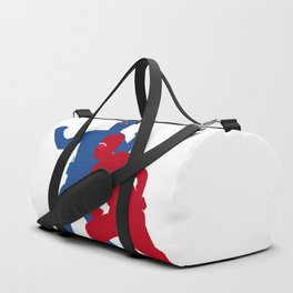 Captain Man and Kid Danger silhouettes with masks Duffle Bag