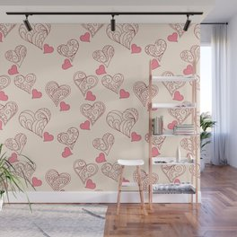 romantic pattern Wall Mural