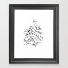 cooking hands Framed Art Print