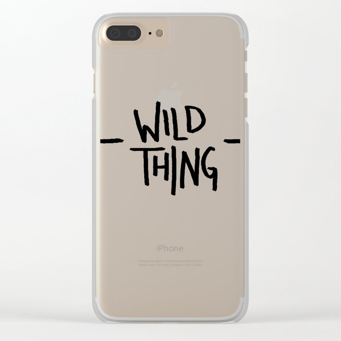 Wild Thing: Skagit Valley, Washington Clear iPhone Case