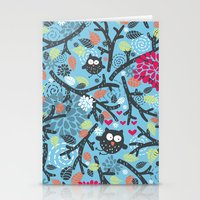 owls Stationery Cards featuring Owls. by panova