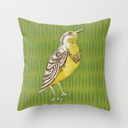 Western Meadowlark Throw Pillow