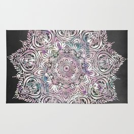 Dreams Mandala - Magical Purple on Gray Rug