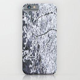 Snowy Tree Branches Winter Scene #decor #society6 #buyart iPhone Case