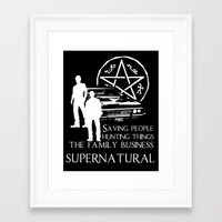 supernatural Framed Art Prints featuring Supernatural  by BehindSky