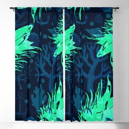 Pineapples Ocean tropical Blackout Curtain