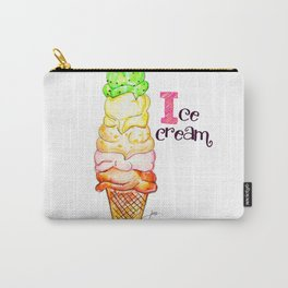 I is for Ice Cream Carry-All Pouch