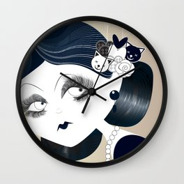 Savanah Black Wall Clock