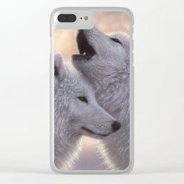 Wolves Howling Moon - Love Song Clear iPhone Case
