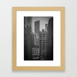 grimy nyc window... Framed Art Print