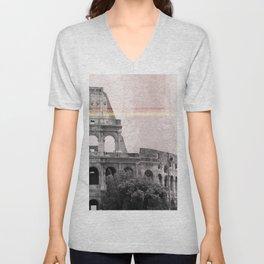 Colosseum Rome Italy Unisex V-Neck
