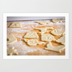 Cookies, Ready for the Oven Art Print