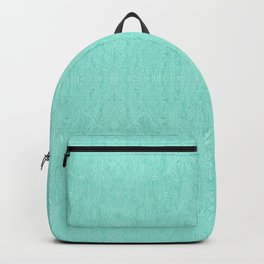 Mint Green Embroidered Look Backpack