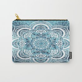 Aqua Turquoise Mandala Carry-All Pouch