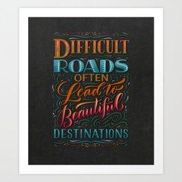 Beautiful Destinations Art Print