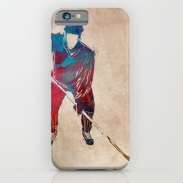 hockey player #hockey #sport iPhone Case