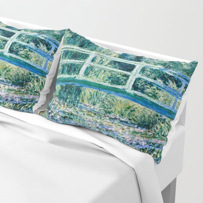 Claude Monet - Water Lilies And Japanese Bridge Kissenbezug
