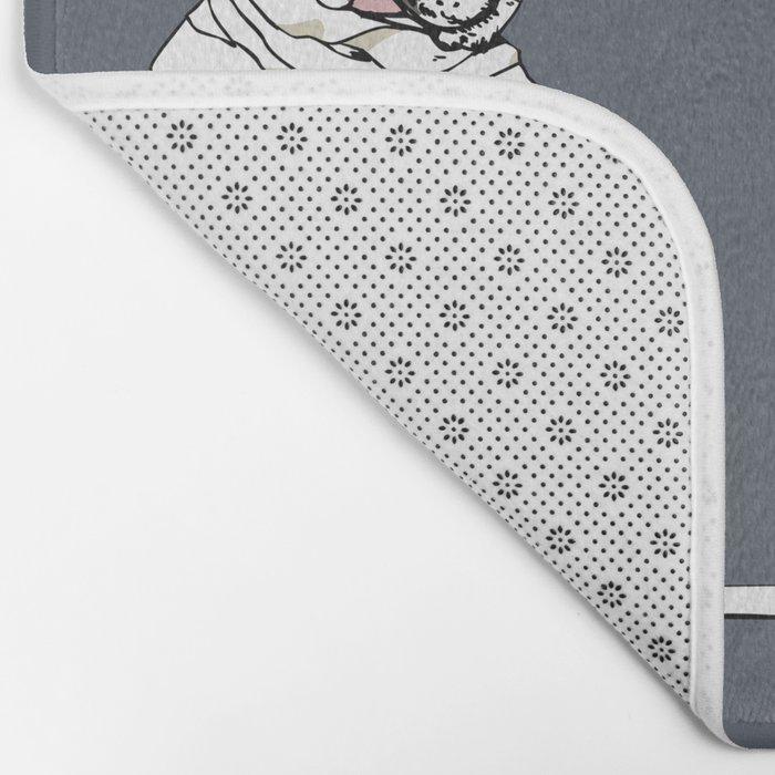 Mummy French Bulldog Bath Mat