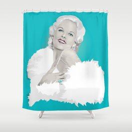 Platinum Blonde - Jean Harlow Shower Curtain