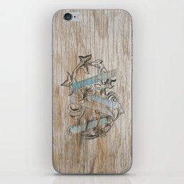 VV wood style iPhone Skin