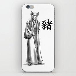 Chinese Zodiac Pig iPhone Skin