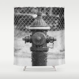 Eddy Valve Company Two Piece Barrel Fire Hydrant Waterford NY Fire Plug Shower Curtain