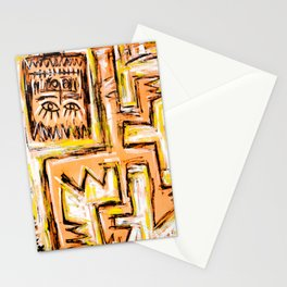 Avec et a Travers by Johnny Otto Stationery Cards