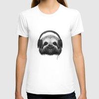 dj T-shirts featuring Sloth DJ by Migar