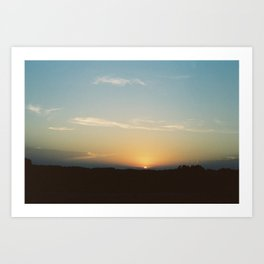 Sunset over South Dakota (35mm Film) Art Print