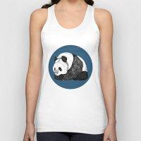 pandas Tank Tops featuring Pandas by Diana Hope