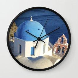 Santorini, Greece Wall Clock