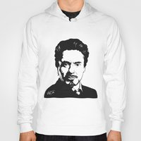 robert downey jr Hoodies featuring Robert Downey Jr. by ArDem
