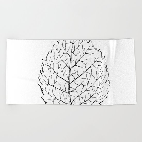 Leaf Beach Towel