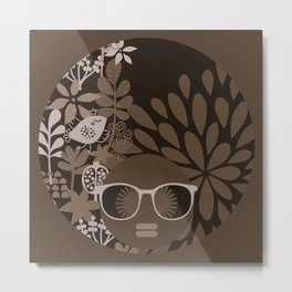 Afro Diva : Brown Sophisticated Lady Metal Print