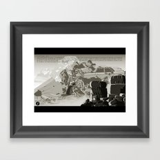 Parasomnia 04 n&b Framed Art Print
