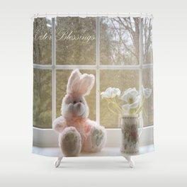 Easter Blessings Shower Curtain