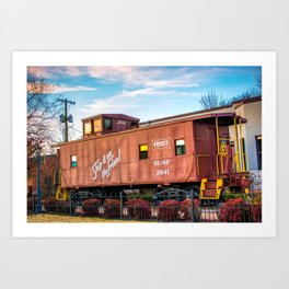 Frisco Train Boxcar - Downtown Bentonville Arkansas Art Print