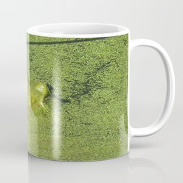Frog in green water at Billy J. Frank Nisqually National Wildlife Refuce Coffee Mug