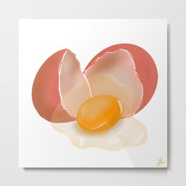 Egg shell Metal Print