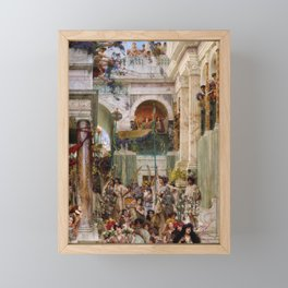 Lawrence Alma-Tadema - Spring - Digital Remastered Edition Framed Mini Art Print