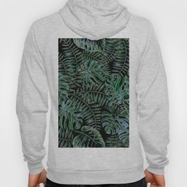 Tropical Night Palm Monstera Garden Hoody
