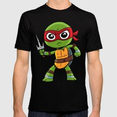 TMNT Raphael Black Mens Fitted Tee LARGE