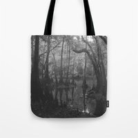 florida Tote Bags featuring Florida Swamp by Kevin Russ