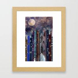 City Nights #Street Art #Multi-Media Framed Art Print