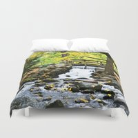 waterfall Duvet Covers featuring Waterfall by Juliana RW