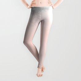 Pastel Pink and Marble Watercolor Gradient Leggings