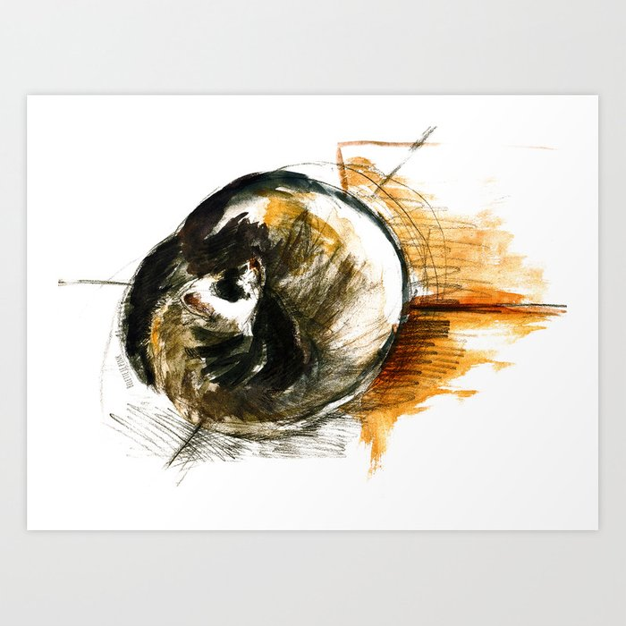 Little furet (Sleepy Ferret) Art Print