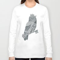 king Long Sleeve T-shirts featuring Owl King by Rachel Caldwell