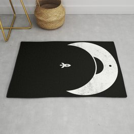 Retro Rocket - rocketship - space - retro - minimal Rug