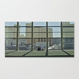A window and a geek Canvas Print